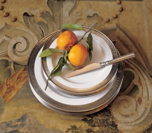 Match Pewter handcrafter pewter and porcelain tablewear